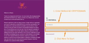 how to register in riseoo step 3